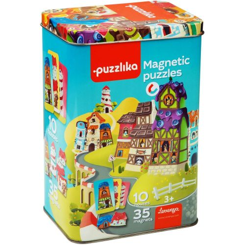 Educational magnetic puzzles Houses