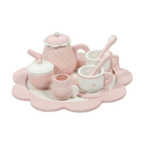 Educational wooden game Wooden Tea set