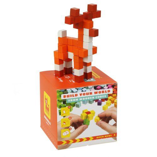 Деревянная мозаика 3D Деревянный конструктор Cubika World