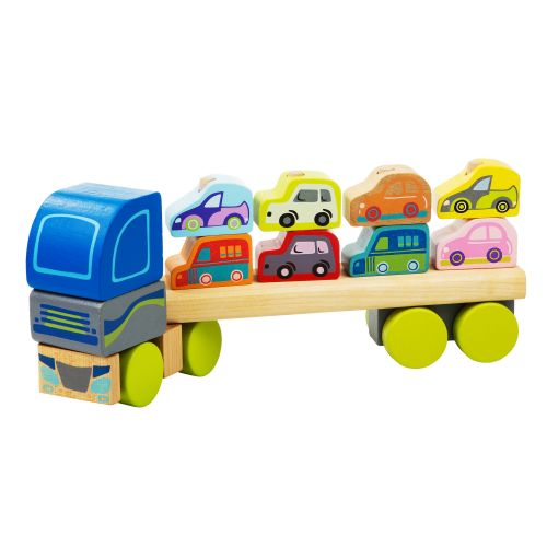 Wooden car Truck with cars LM-12