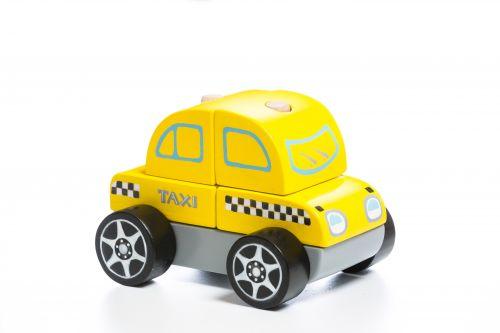 Деревянная машинка Cubika Такси LM-6
