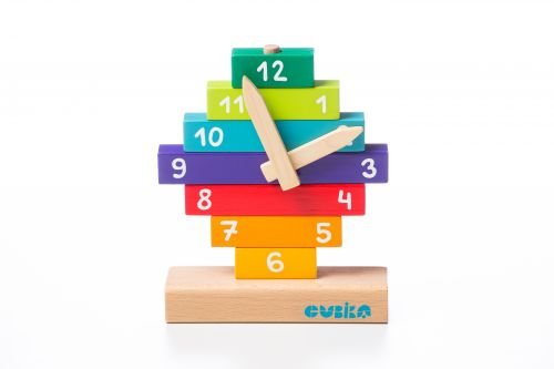 Educational wooden game Clock