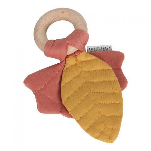 Crinkle toy leaves Pure & Nature dark pink