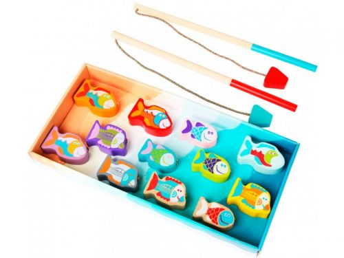 Educational wooden game Fishing