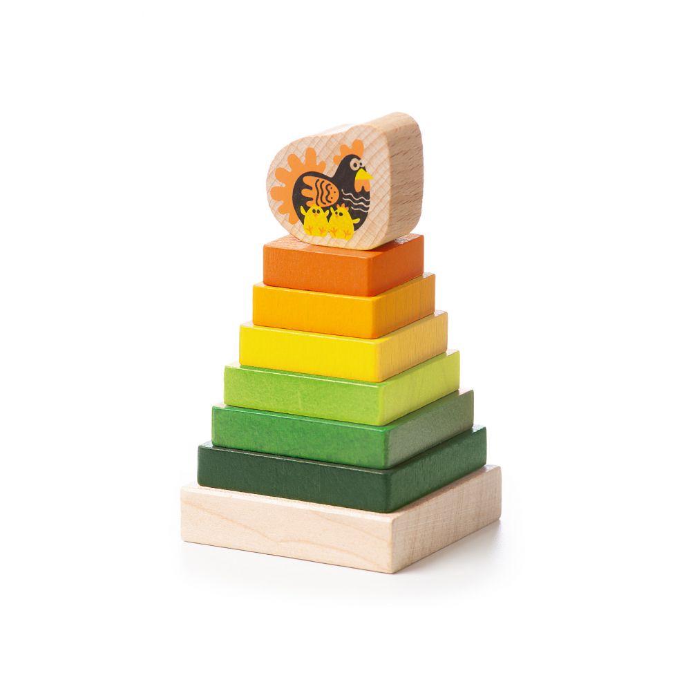 Attīstošā koka piramīda EKO piramīda - 15