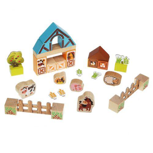 Развивающие деревянные кубики ЭКО Ферма