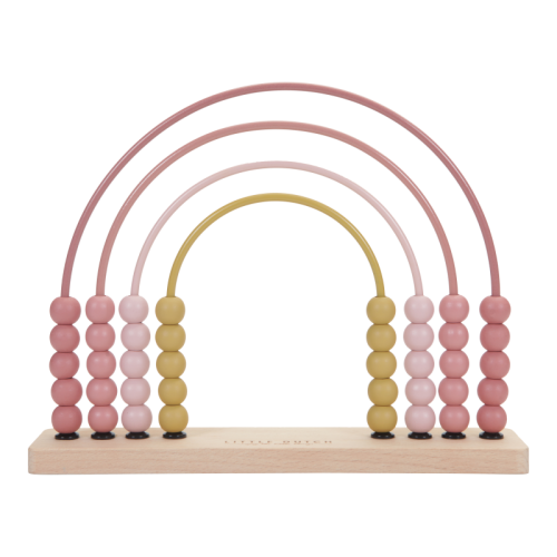 Educational wooden game Wooden pink rainbow abacus