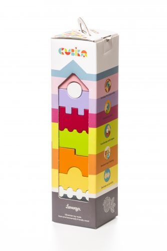 Educational wooden tower