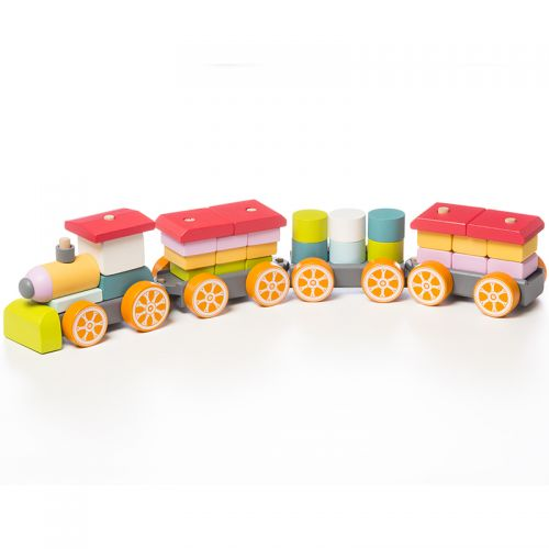 Attīstošs koka vilciens Ātrs vilciens LP-1