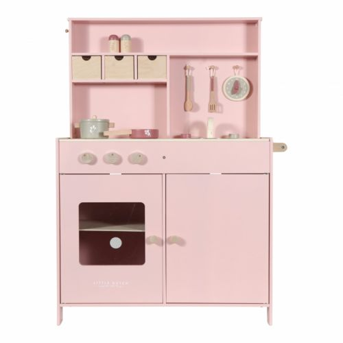Educational wooden game Toy wooden kitchen pink