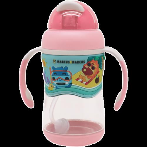 Līmeņu tritāna pudelīte ar salmiņu – SP Pink