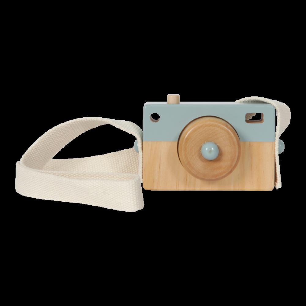 Koka attīstošā spēle Koka rotaļu fotokamēra
