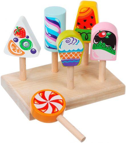 Edukacinis medinis žaidimas Mediniai vaikų rinkiniai