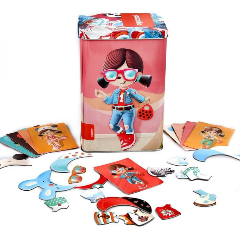 Educational magnetic puzzles Dolls -1