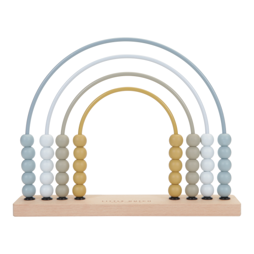 Educational wooden game Wooden blue rainbow abacus
