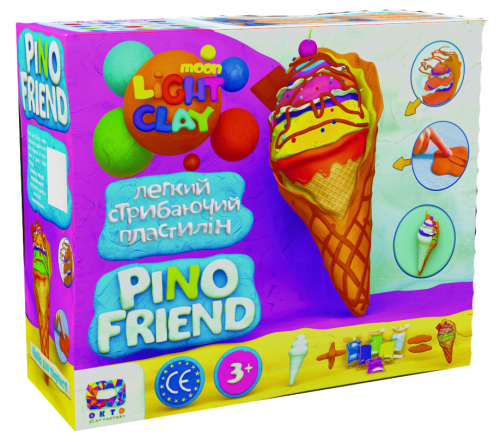 Light jumping Clay - Pino Friend Icecream set