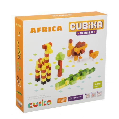 Koka mozaīka 3D koka konstruktors Cubika World