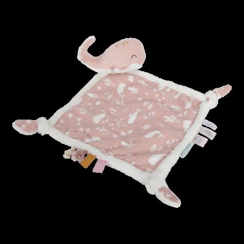 Cuddle cloth Whale Ocean Pink