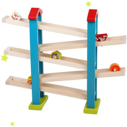 Edukacinis medinis žaidimas Mediniai bėgių rinkiniai