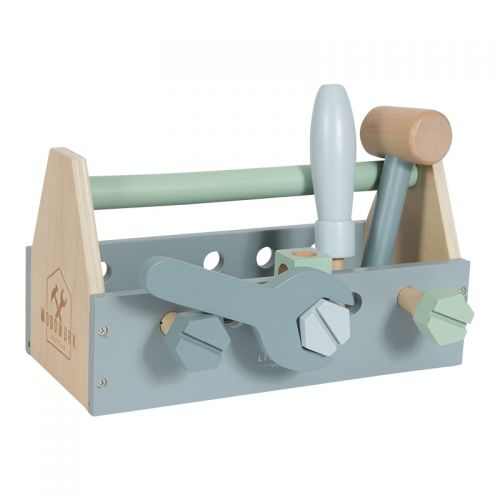 Educational wooden game Children's toolbox