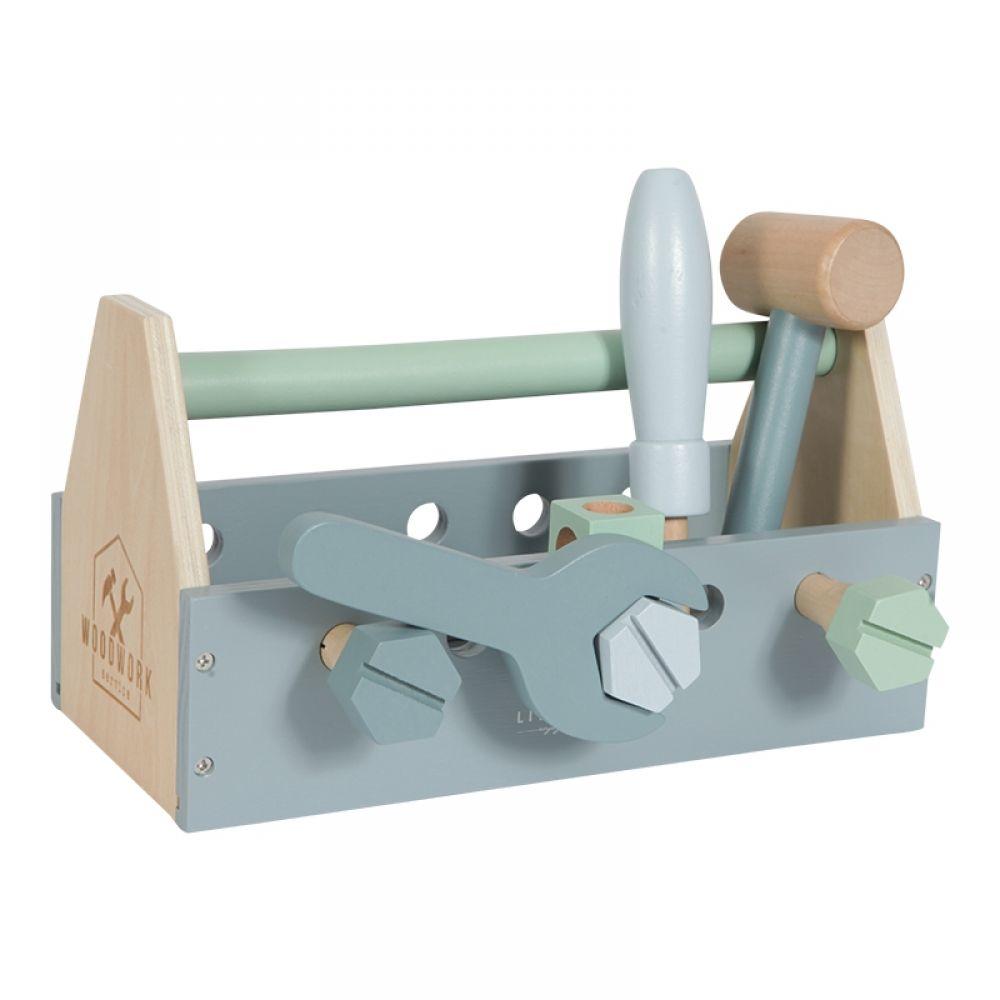 Koka attīstošā spēle Koka rotaļu instrumentu kaste