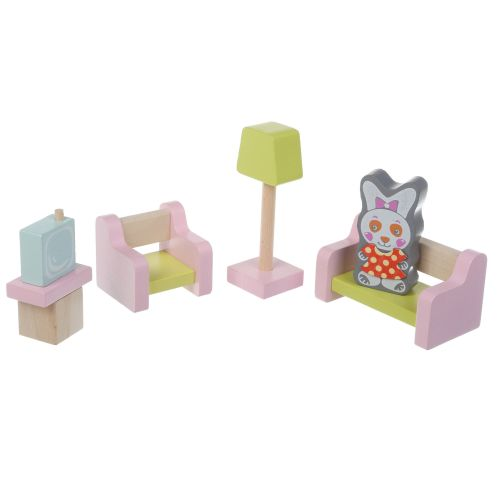 Развивающие деревянные кубики Набор деревянной мебели