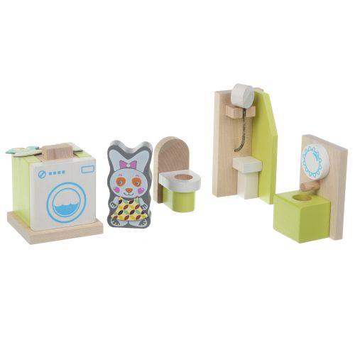 Развивающие деревянные кубики ЭКО Ванная комната
