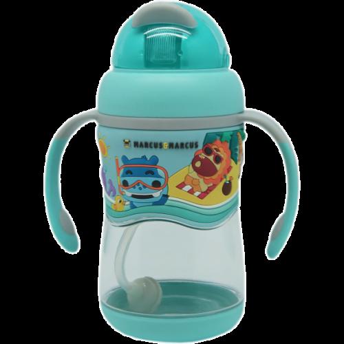 Līmeņu tritāna pudelīte ar salmiņu – SP Blue
