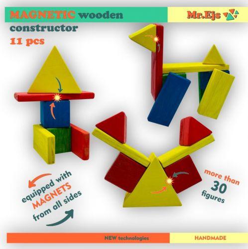 krāsains magnētiskais konstruktors 11 gab.