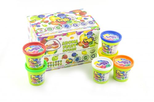 Play dough Set - Set of 12 cups in displaybox Aroma