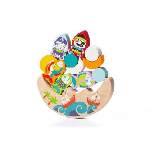 Развивающая деревянная игра Балансир Море