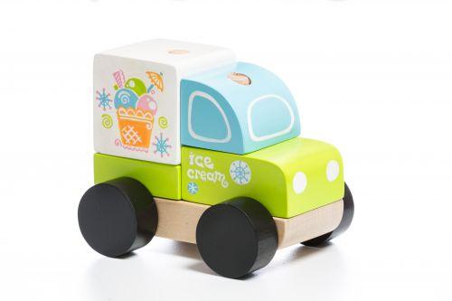 Деревянная машинка Cubika Экспресс-мороженое LM-8